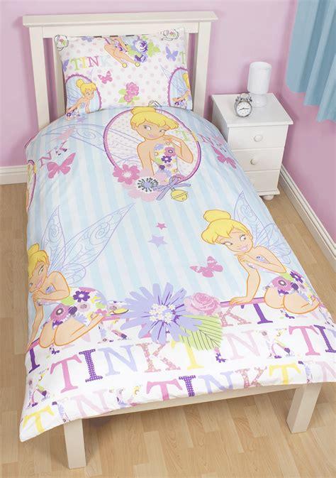 Disney Fairies Bedding Set Disney Fairies Tinkerbell Cherish Duvet Cover Pillow Reversible Bedding Ebay