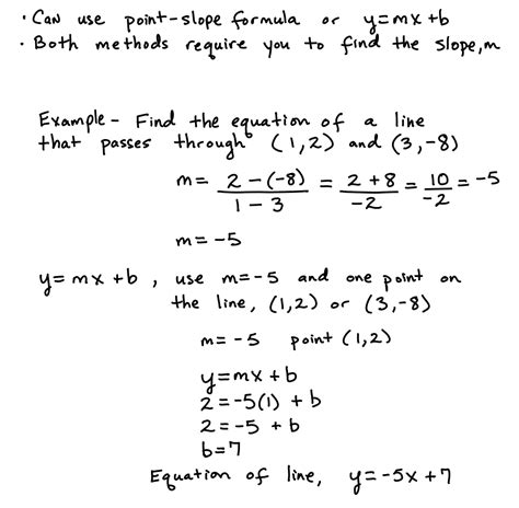 How To Find On Line Slope Equation Calculator With 2 Points Tessshebaylo