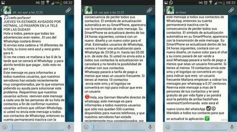 cadenas whatsapp de miedo nuevos bulos circulan por la aplicaci 243 n whatsapp