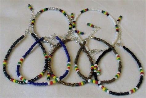 Handmade Beaded Anklets - handmade beaded anklet ankle bracelet glass seed