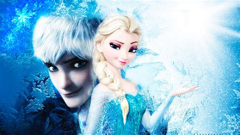 wallpaper frozen jack frost jack frost and elsa wallpaper by magnifiquediable on
