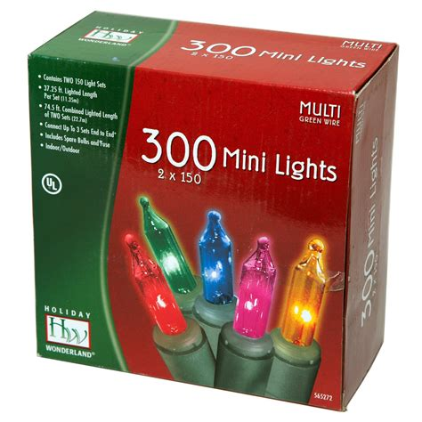 mini lights 300 multi color string christmas xmas holiday