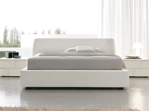 white modern bed all white bedroom design ideas