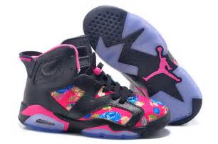colorful jordans new air 6 gs black colorful for cheap