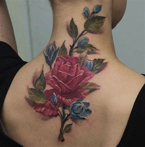 rose tattoos on the neck karma best design ideas