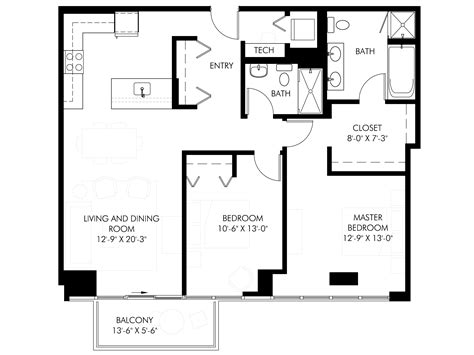 squar foot chicago two bedroom condos comparing five new construction two bedroom condo floor plans in