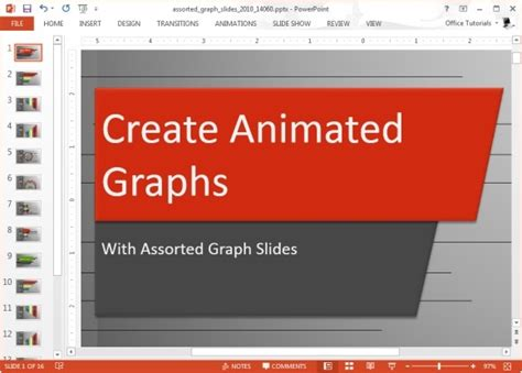 Animated Graph Template For Powerpoint Free Powerpoint Charts And Graphs Templates