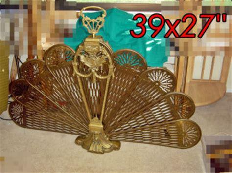 vintage brass fireplace screen fan ffortunate