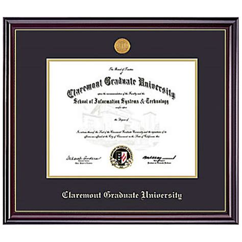 claremont graduate university diploma frame phd windsor