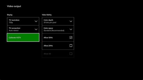 xbox one color space fix xbox one screen and display problems