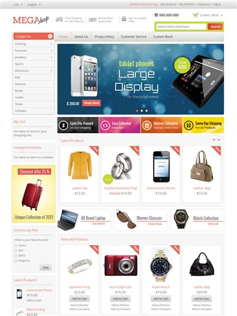 shop template 55 best premium responsive magento themes