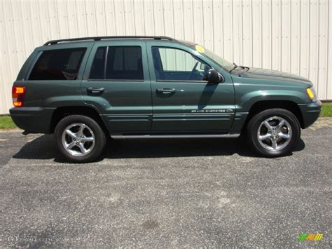 green jeep grand cherokee 2003 onyx green pearlcoat jeep grand cherokee overland 4x4