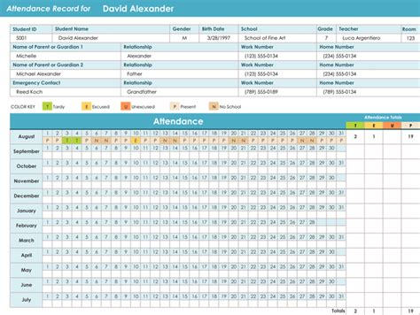 Attendance Tracking Templates   6 Excel Trackers and Calendars