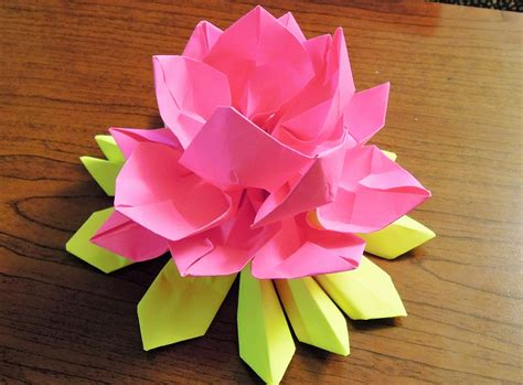 How To Make Paper Lotus - how to make paper origami lotus my crafts and diy projects