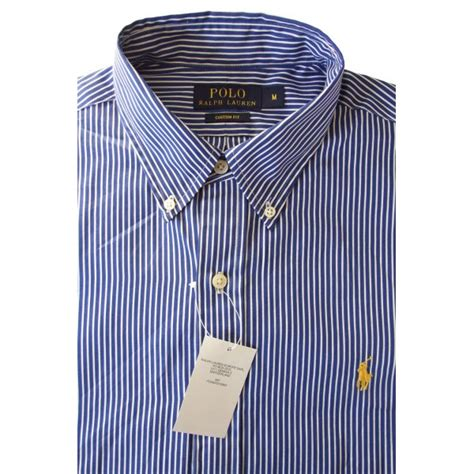 Ralph Blue White by Polo Ralph Shirt Navy White Stripe Mens