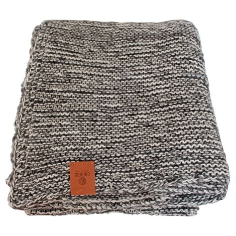 black knitted throw knitted throw blanket 001 black and white catnessdesign