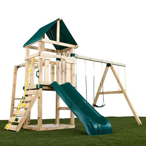 timber bilt hawk s nest playset the home depot canada