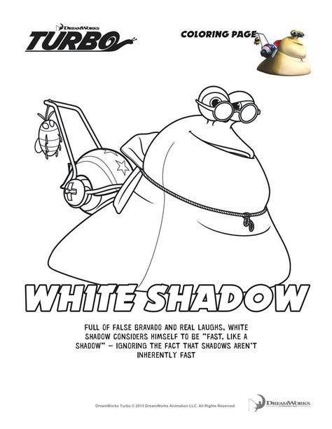printable turbo coloring page turbo white shadow coloring sheet kiddos pinterest
