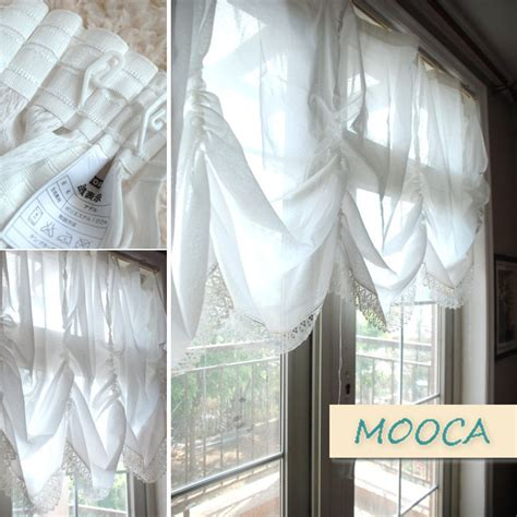 how to make pull up curtains aliexpress com buy white lace embroidered curtain