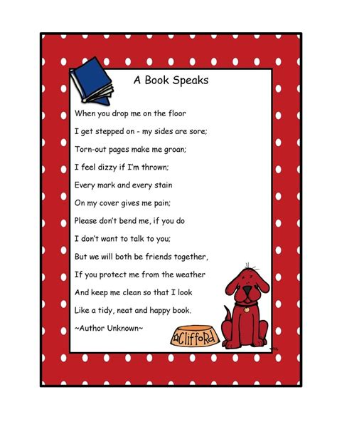 after care a for the 40 books preschool printables free clifford quot a book speaks quot poem