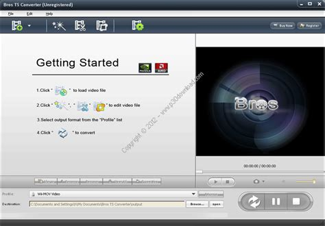 converter format ts bros ts converter screenshot 1