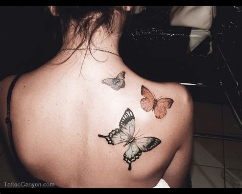 girl shoulder tattoo butterfly tattoos on back shoulder for