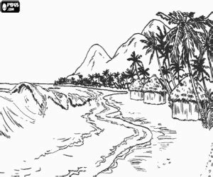 tropical landscape coloring page ereti kaardimaania lighthouse