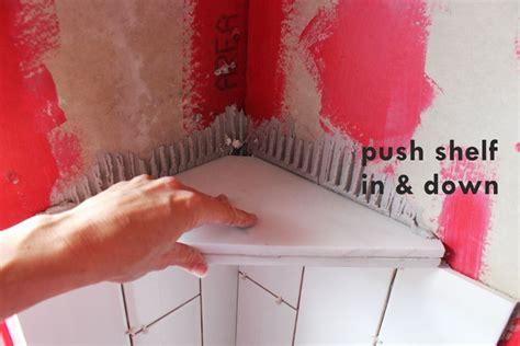 Shower Shelf Installation by How To Install A Tile Shower Corner Shelf Shower Corner
