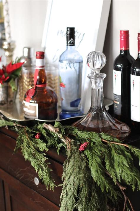 decorate  bar cart   holidays