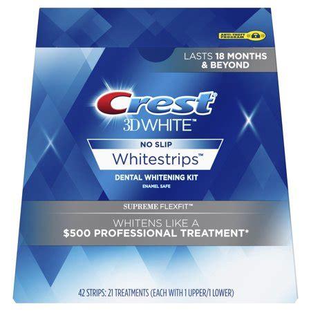 crest whitestrip supreme crest 3d white whitestrips supreme flexfit teeth whitening