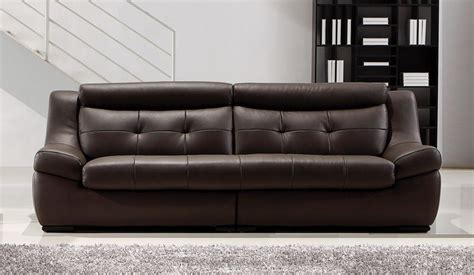 4 Seater Sofa Leather Gallina Large Brown Leather Sofa 4 Seater Modern Settee Delux Deco