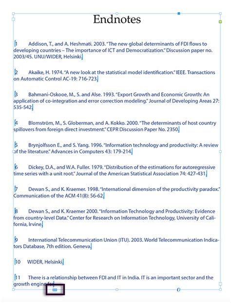 footnote exles in research paper endnotes
