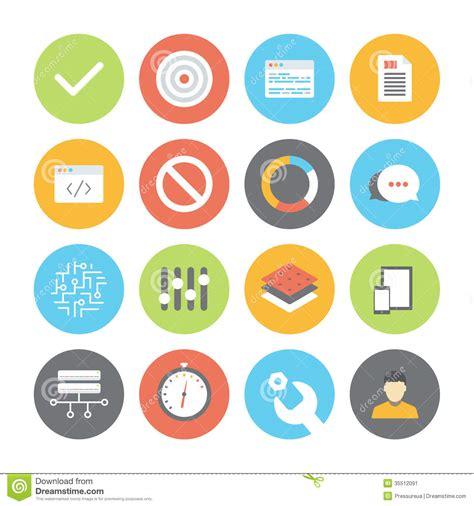 design ui icon web and ui flat icons set stock image image 35512091