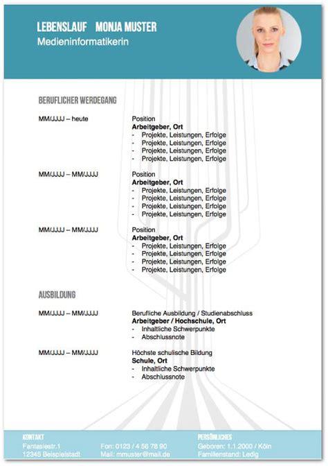 Kostenlos Lebenslauf Muster Word by Lebenslauf Vorlagen Tipps Und Gratis Word Muster
