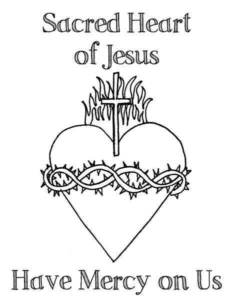 sacred heart coloring page look to him and be radiant the sacred heart of jesus and