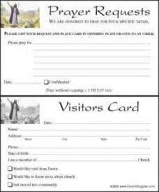 church visitor card template free printable prayer request sheets in images