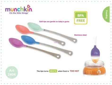 munchkin white safety spoon sendok sensor panas asibayi