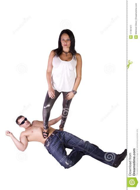 woman dominates husband image of a woman dominating over man stock image image