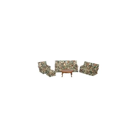 walnut living room furniture sets dollhouse floral walnut living room set miniature