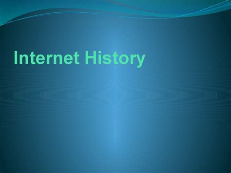 history   internet