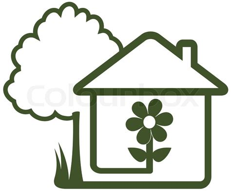 Best Country House Plans by Isolated Sign With Landscaping Symbol Tree House