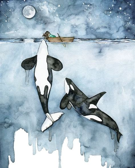 watercolor orca tutorial 17 b 228 sta bilderna om drawing and painting ideas p 229 pinterest
