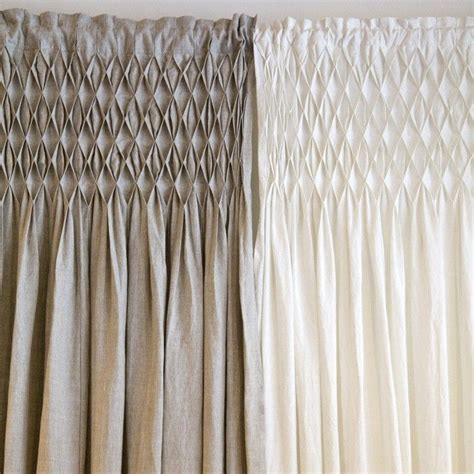 smocked curtain pom pom at home smocked curtain panel color pink l 3100