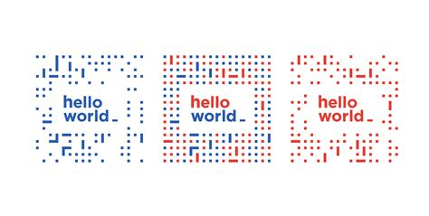 hello world programmable visual identity on behance