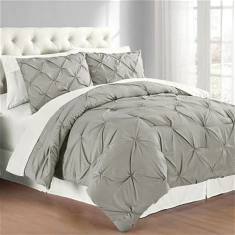 white pintuck comforter set buy grey comforter sets from bed bath beyond