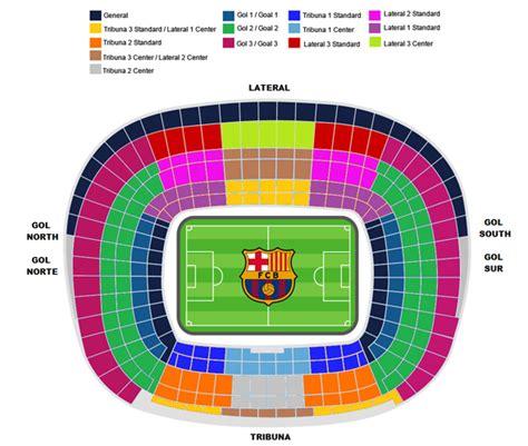 c nou stadium seat map fc barcelona tickets en accomodatie barcelona