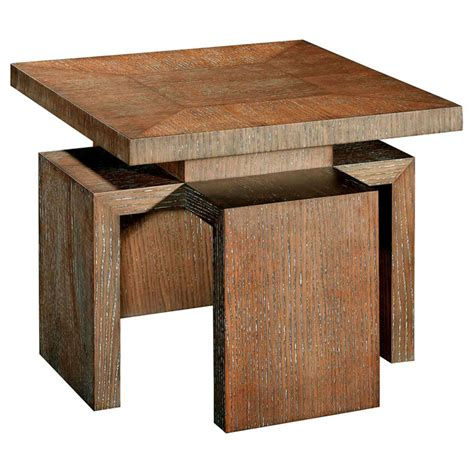 white wood end table sebring wood end table white limed cognac square top