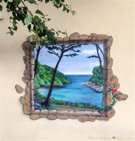 Trompe L Oeil Artiste by Fen 234 Tre Sur La Mer Bursinel D 233 Coration Trompe L Oeil