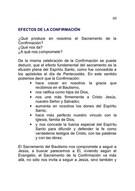 discurso para la confirmacion los sacramentos fuente de vida eterna