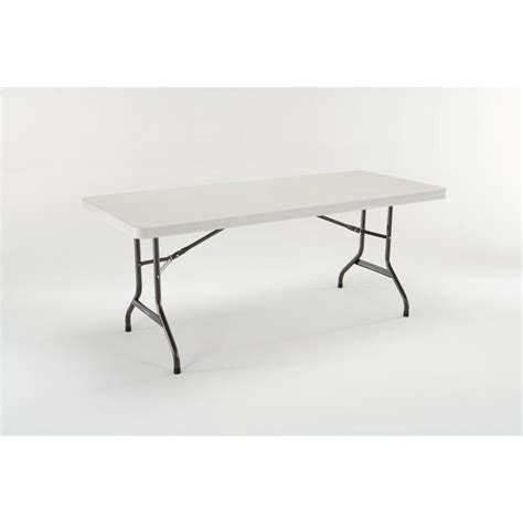 folding table lowes shop lifetime products 72 in x 30 in rectangle steel